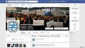 Facebook Sindikata radnika aerodroma Zagreb